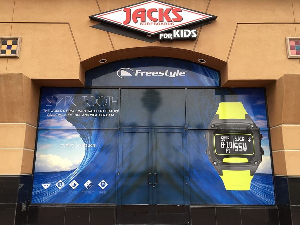 Jack's surfboard window graphics
