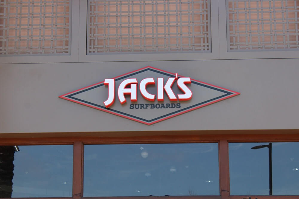 Jacks's surfboard logo custom design