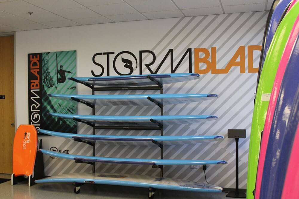Stormblade surf custom displays