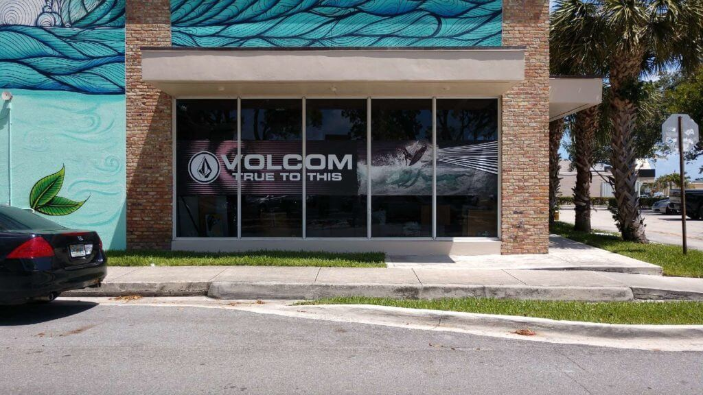 Volcom 5 part window graphics