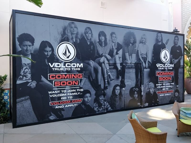 Volcom Wall Graphics has been done by Venbea Imaning located in Santa Ana, California