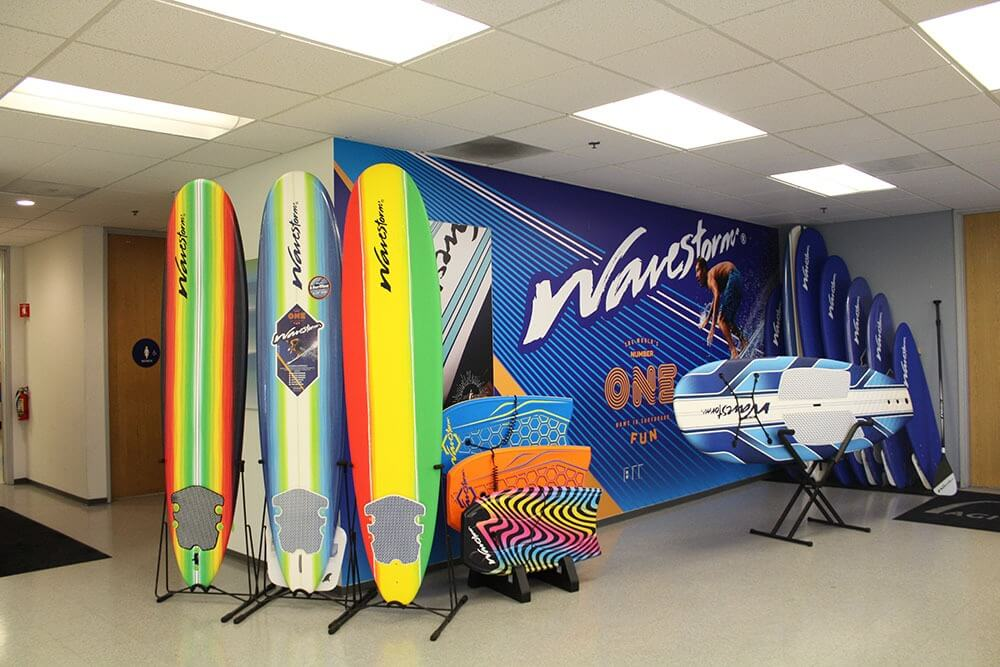 Wavestorm surf custom displays Santa Ana